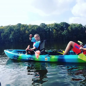 Kayak Fishing Trips on Kaecher Creek Lake with Top Water Trips