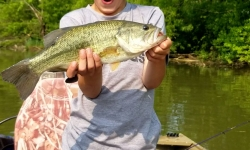 Top Water Trips Fishing Charter on our Jet Boat fishing For Bass on Blue Marsh