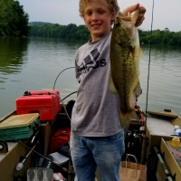 Top Water Trips Fishing Charter on our Jet Boat fishing For Bass on Blue Marsh Kids FIshing Lessons