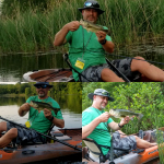 Kayak Bass Fishing Lessons with Top Water Trips