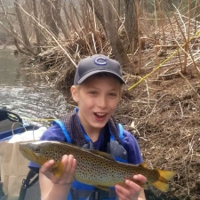 Fly Fishing Lessons with Top Water Trips, Fishing Charter in Pennsylvania during our Kids Fly FIshing Lesson