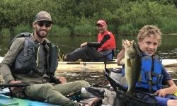 Ethan Kayak Fishing With Top Water Trips on Marsh Creek for Largemouth Bass