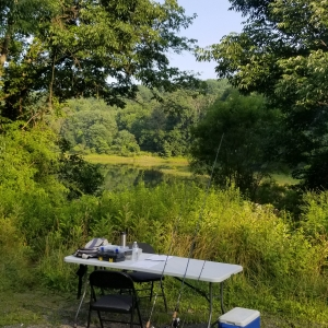Bass Fishing Lesson in Pennsylvania with Top Water Trips