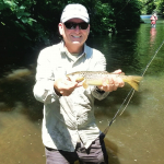 Fly FIshing Trips with Top Water Trips Fishing Charter on the Little Schuylkill for Trout