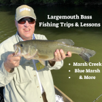 Bass FIshing Trips on Marsh Creek with Top Water Trips