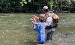 Fly Fishing in Pennsylvania Fly FIshing Lessons with Top Water Trips- Fly Casting Lessons on the Tulpehocken Creek