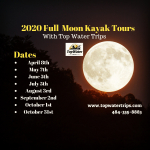 Full Moon Kayayk Tours with Top Water Trips Kayak Rental Agency in Pennsylvania