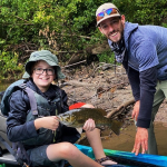 Kayak FIshing the Schuylkill River for Smallmouth with Top Water Trips