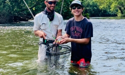 Private Fly Fishing Lessons with Top Water Trips Fishing Guide Service